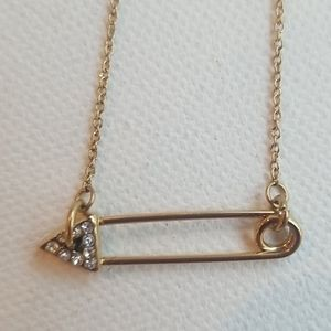 NWT Rebeca minkoff safety pin necklace